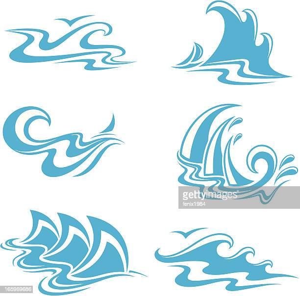 symbol waves - s shape stock illustrations