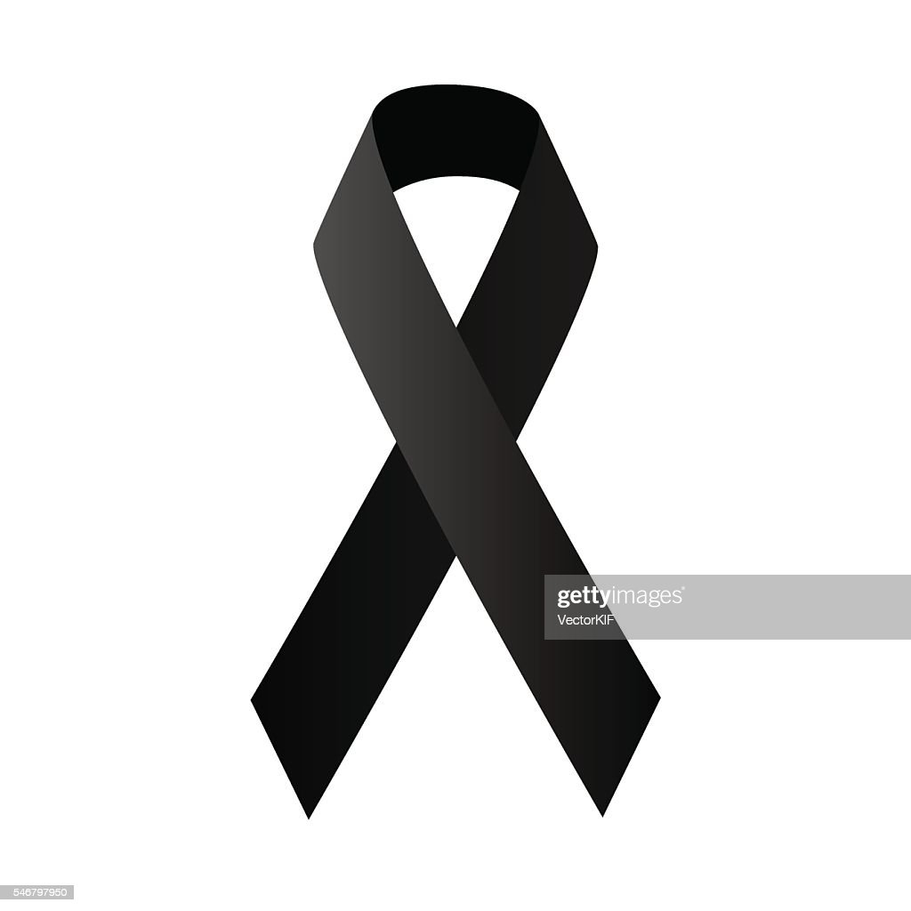 symbolic black ribbon