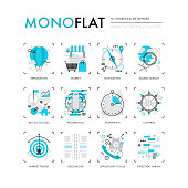 Symbols and Metaphors Monoflat Icons