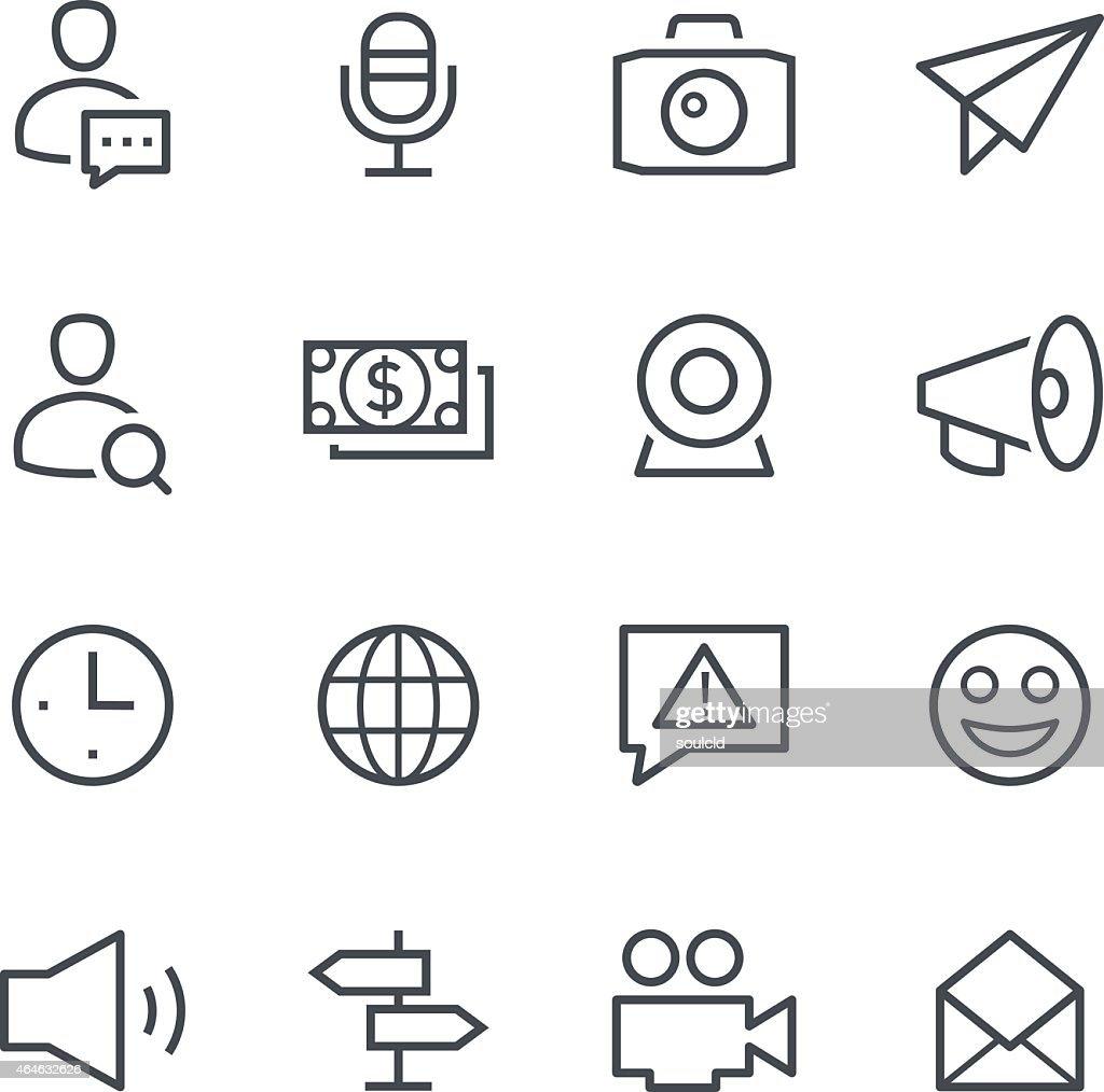 Symbols for different social media platforms