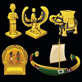 Symbols of Egypt, monuments, and other items