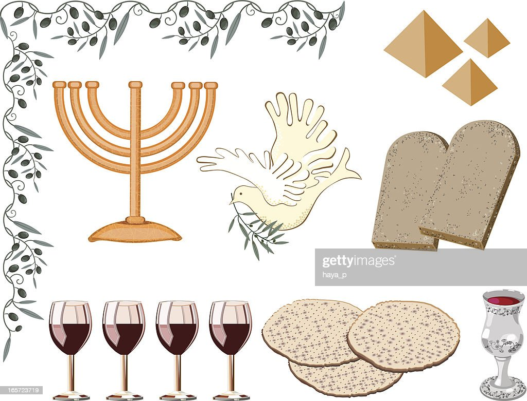 Symbols Of Passover Vector Art Getty Images