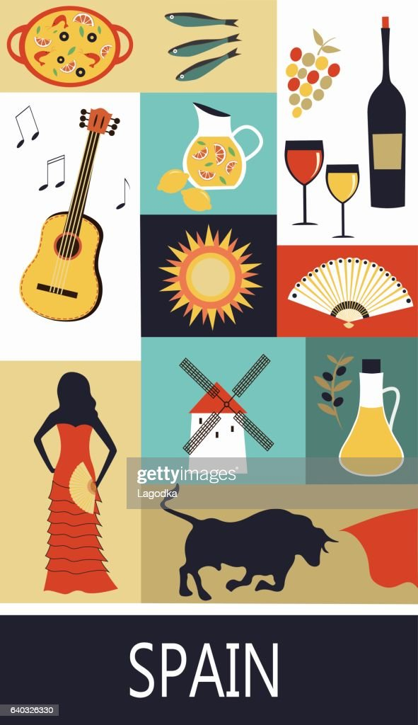 Symbols Of Spain Vector Art Getty Images