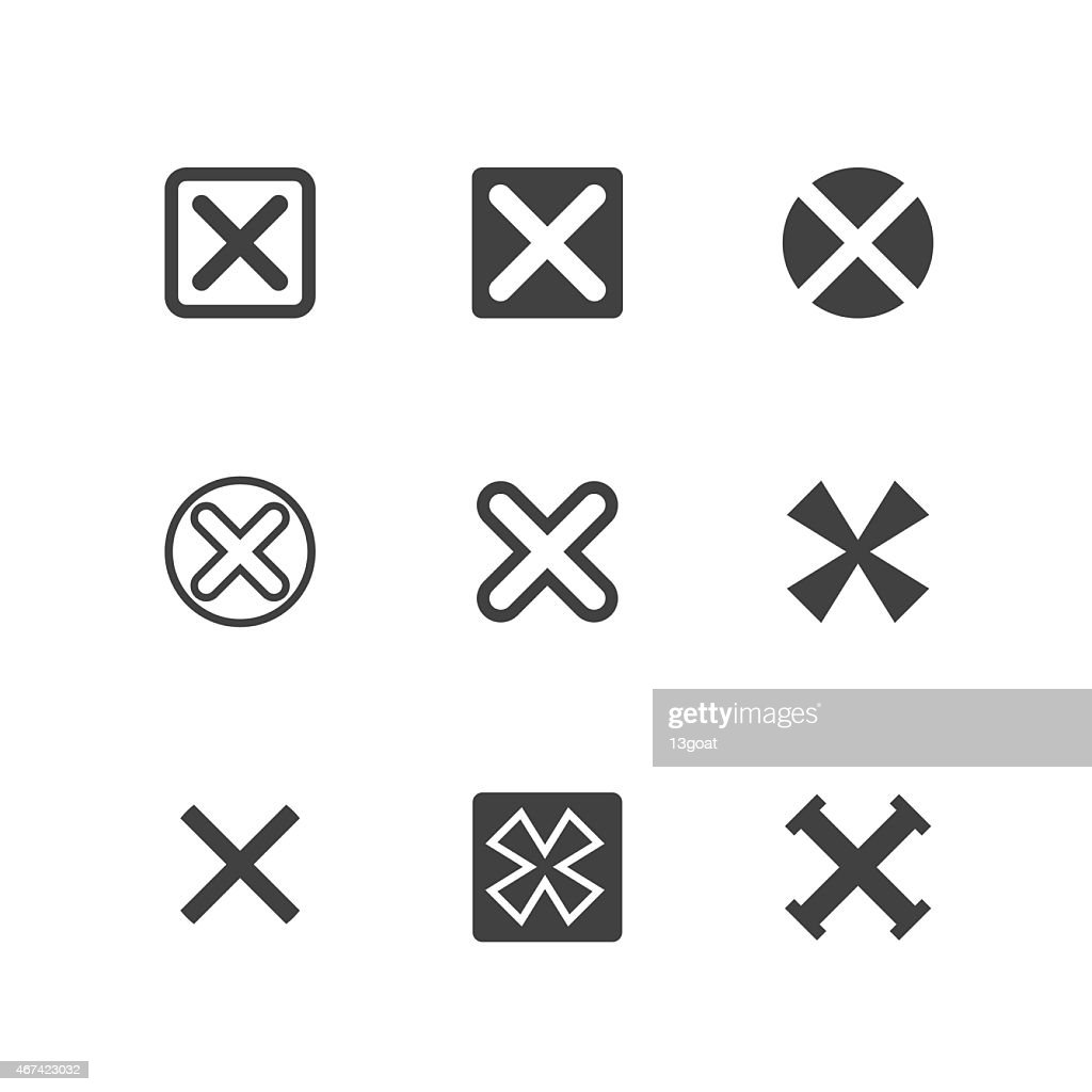 X Symbols, Rejected Mark Icons