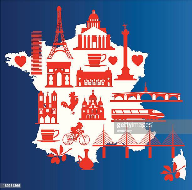 france symbols - nice france stock illustrations, clip art, cartoons, & icons
