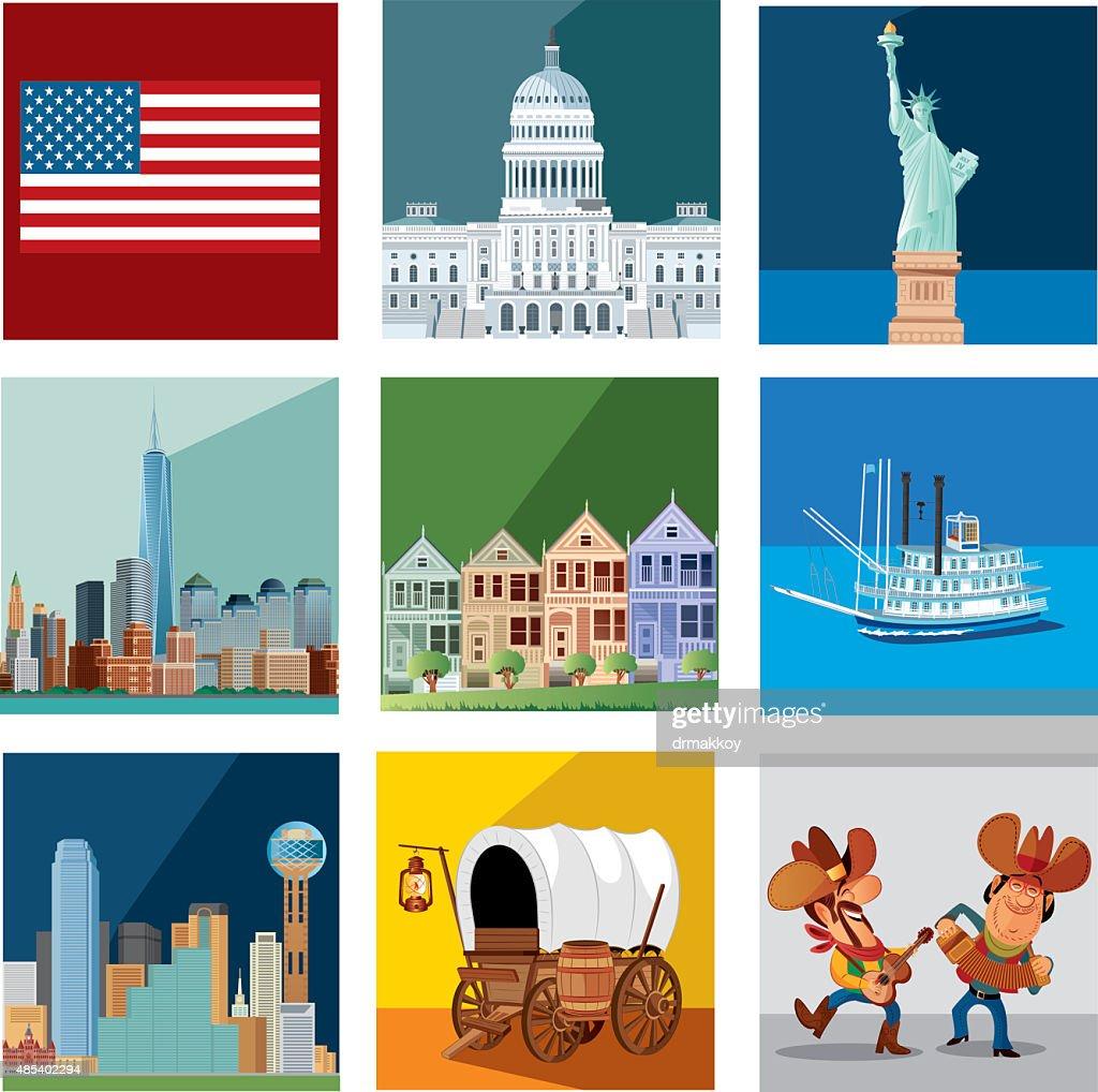 Usa Symbols Vector Art Getty Images