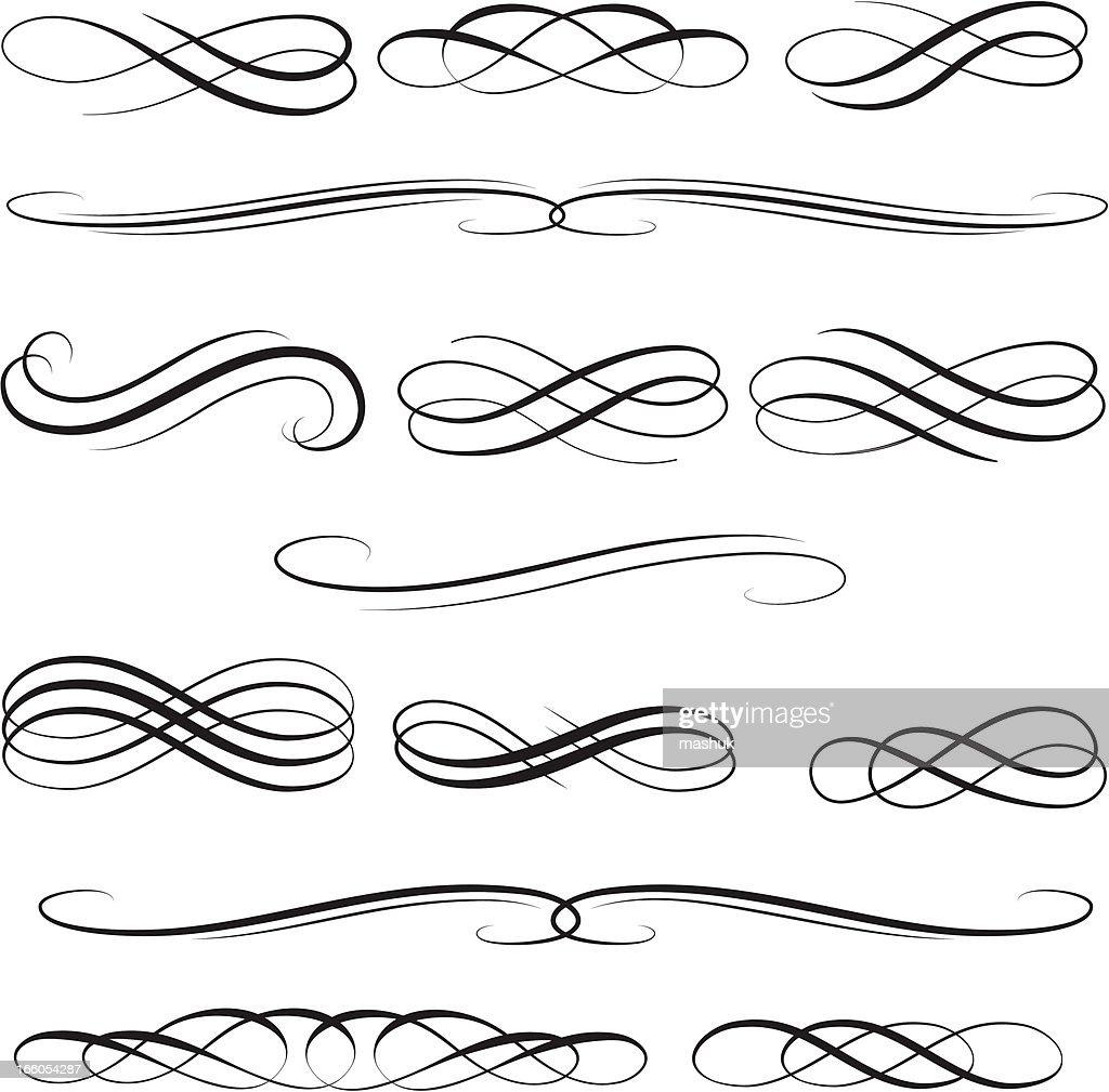 Symmetry design elements : stock illustration