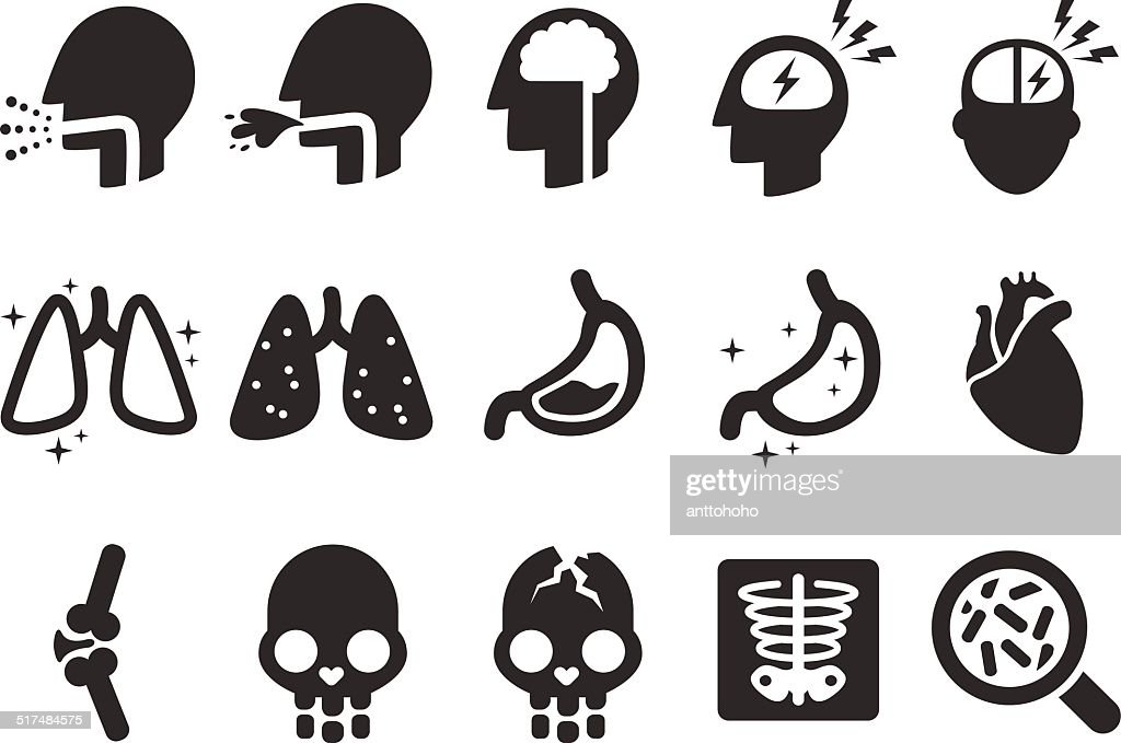Symptoms Icons - Medical Illustration