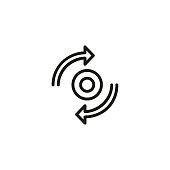 Synchronization sign icon