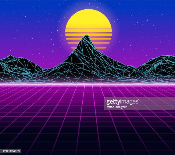 459 Vaporwave High Res Illustrations Getty Images