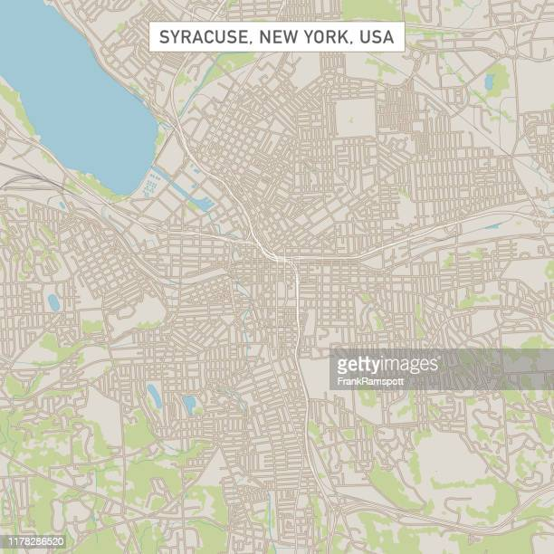 syracuse new york us city street map - syracuse new york stock illustrations