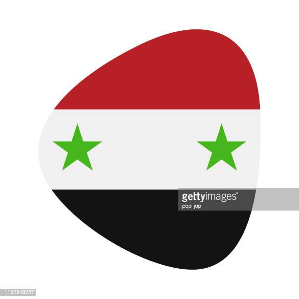 Syrien-Abstrakte Flagge Vector Flat Icon
