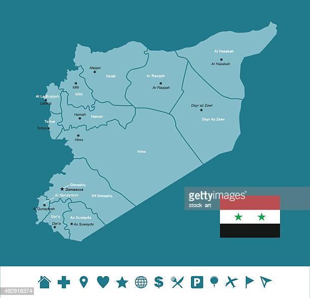 Syrien Infografik Karte