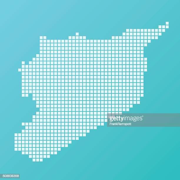 Syrien Karte Grundlegende Platz Muster-Türkis