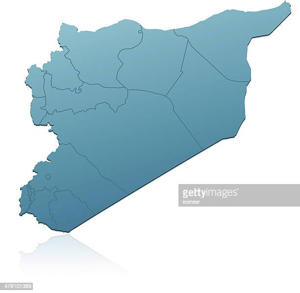 Syria map green