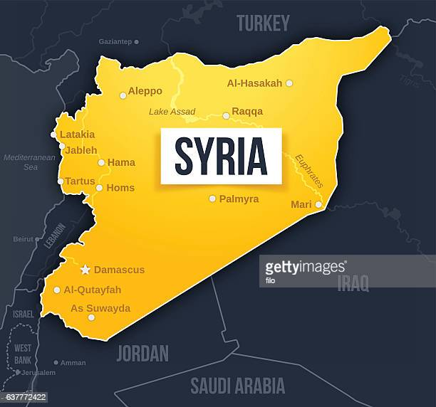 syria map - syria stock illustrations
