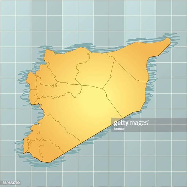 Syria map vintage
