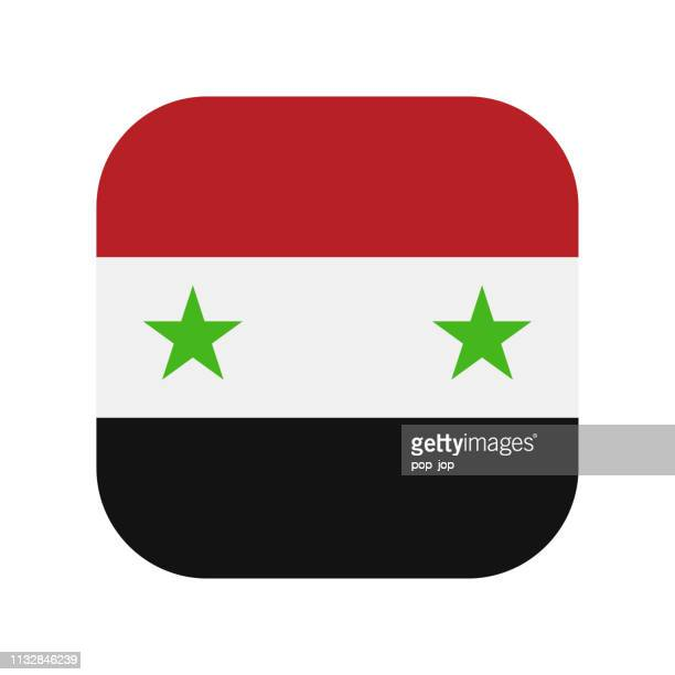 Syrien-Square Flag Vector Flat Icon