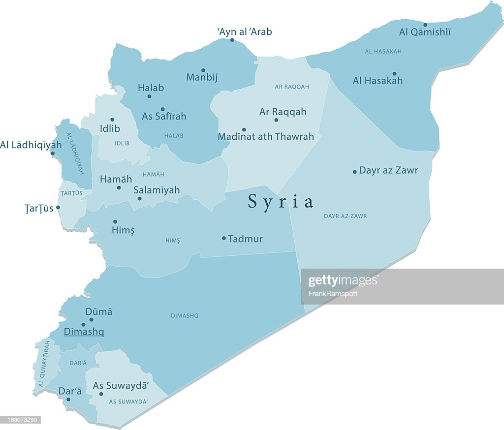 Syria Vector Map Regions Isolated : Stock Illustration