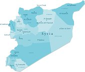 Syria Vector Map Regions Isolated