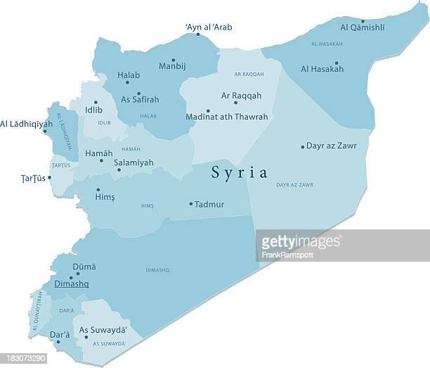 Syrien Vektor-Karte Regionen Isoliert