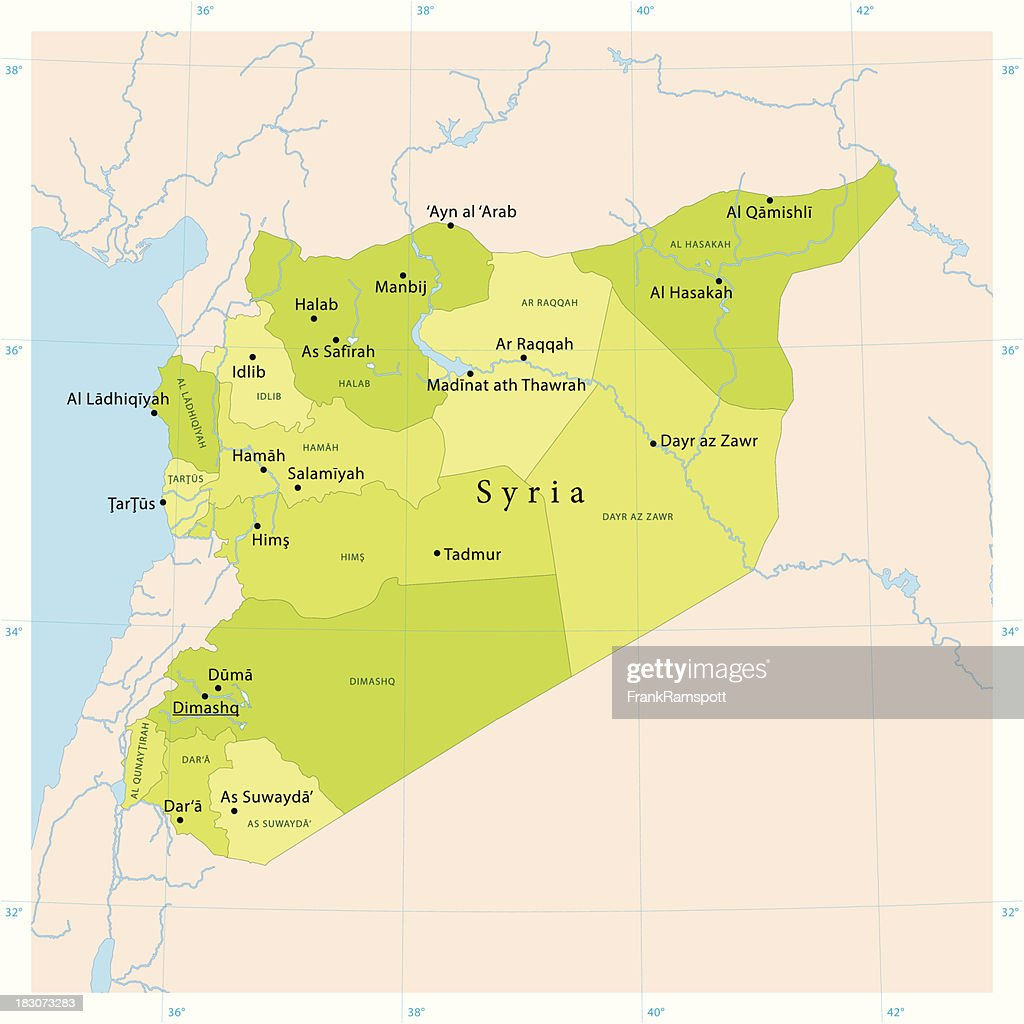 Syria Vector Map : Stock Illustration