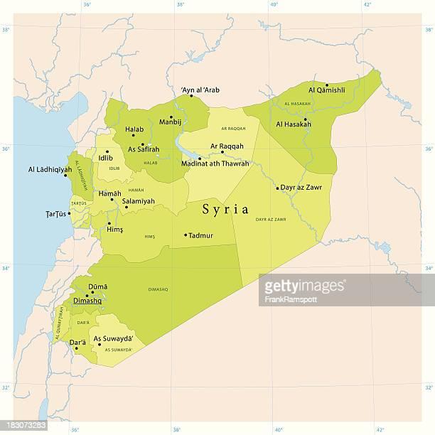 Syrien Vektor-Karte