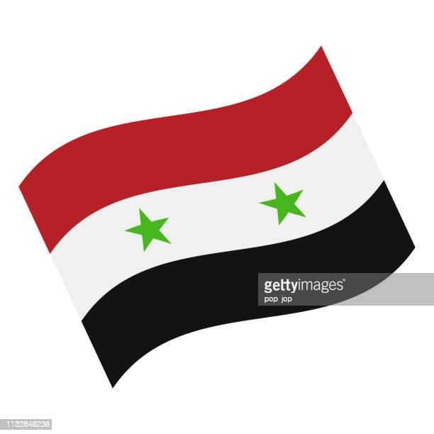 Syrien-Waving Flag Vector Flat Icon