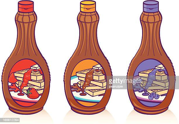 syrup - maple syrup stock illustrations
