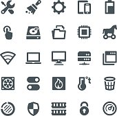 System Maintenance Icons