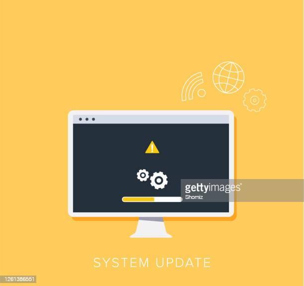 システムアップデートの改善 新バージョンソフトウェアを変更します。 - ソフトウェアアップデート点のイラスト素材/クリップアート素材/マンガ素材/アイコン素材