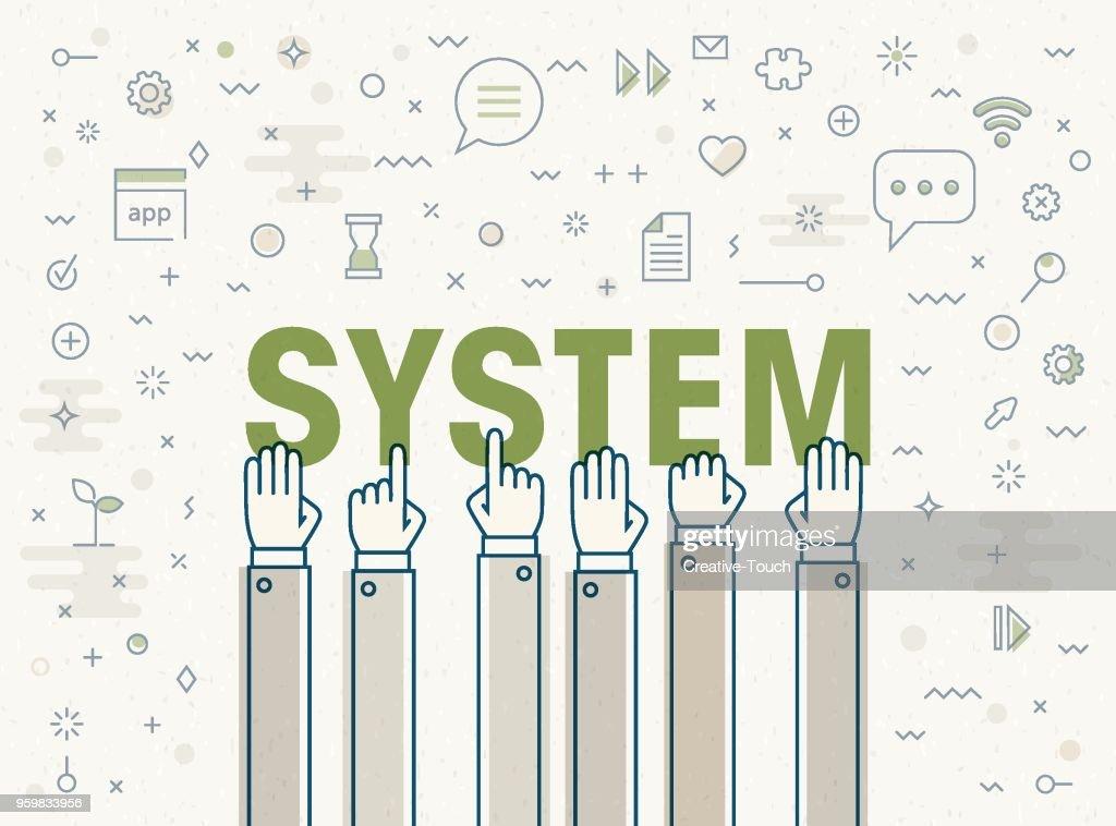 - System : Stock-Illustration
