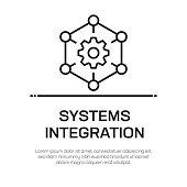 Systems Integration Vector Line Icon - Simple Thin Line Icon, Premium Quality Design Element