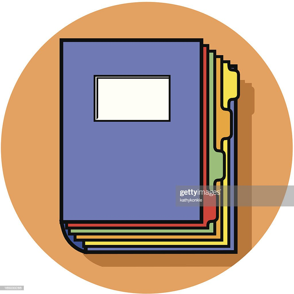 tabbed binder icon vector art getty images