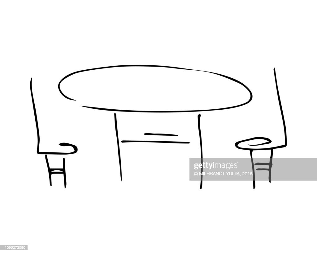 table and chairs icon. vector.
