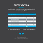 table and infographic design