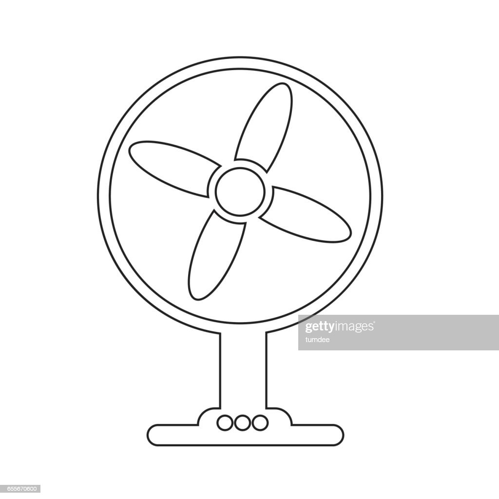 Table fan icon illustration design