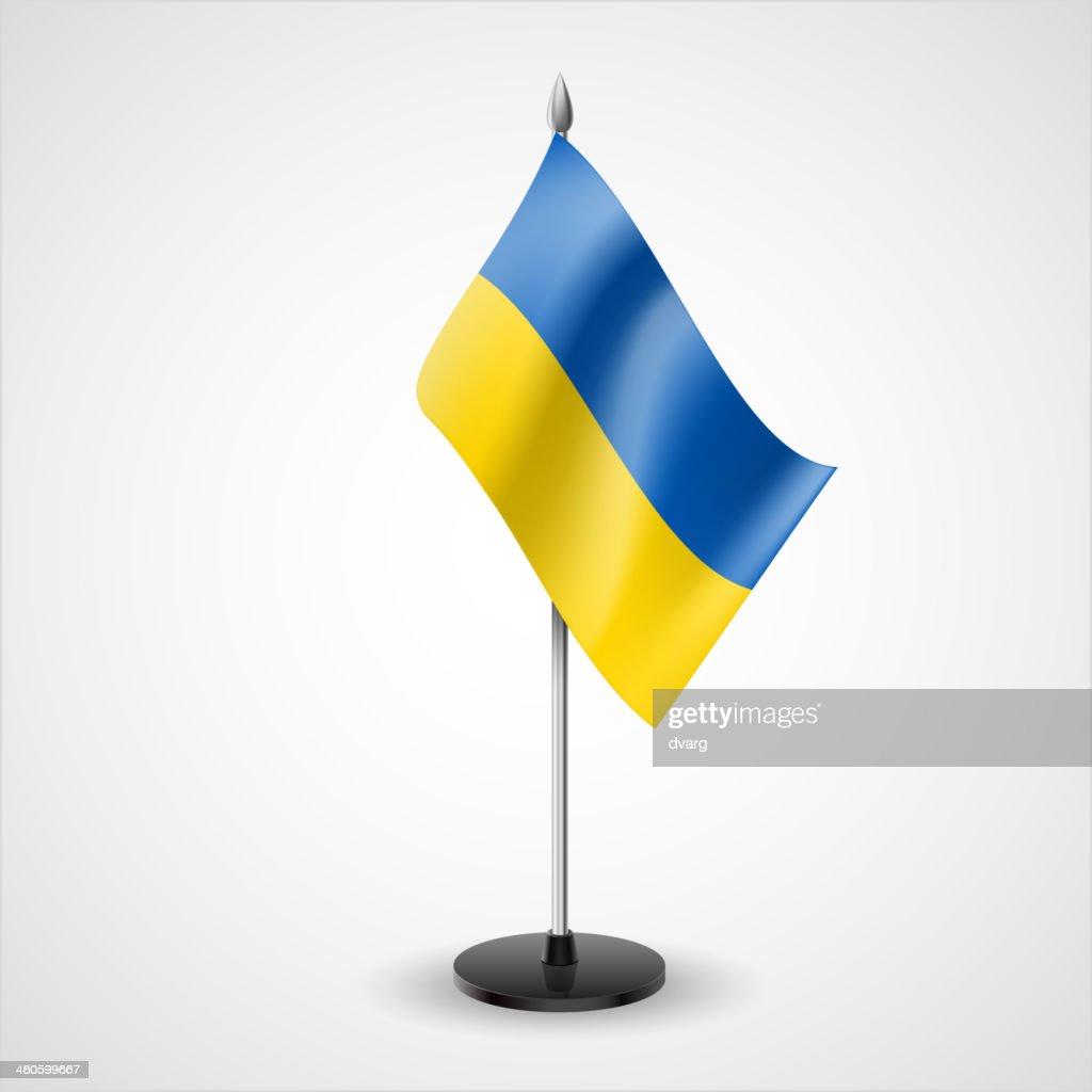 Table flag of Ukraine : Vector Art