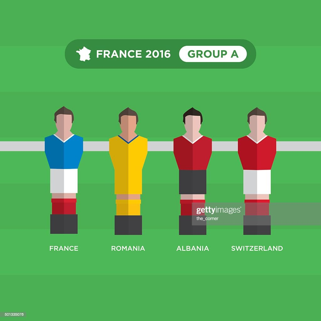 Table Football players, France 2016, group A.