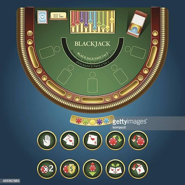 Table for blackjack - online casino interface.