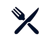 Table knife And Fork - Vector