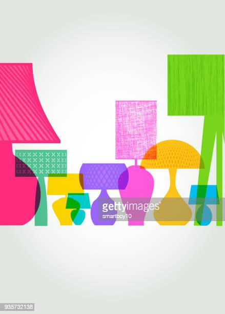 table lamp designs - showroom stock illustrations, clip art, cartoons, & icons