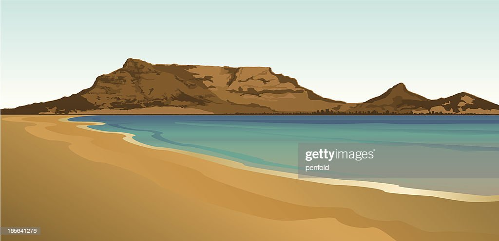 Table Mountain South Africa : stock illustration