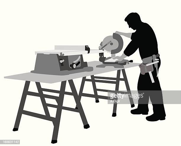 table saw vector silhouette - power tool stock illustrations, clip art, cartoons, & icons