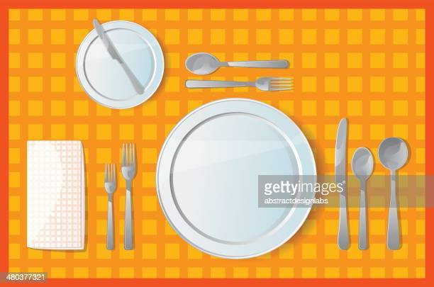 Table setting for Dinner/ Lunch