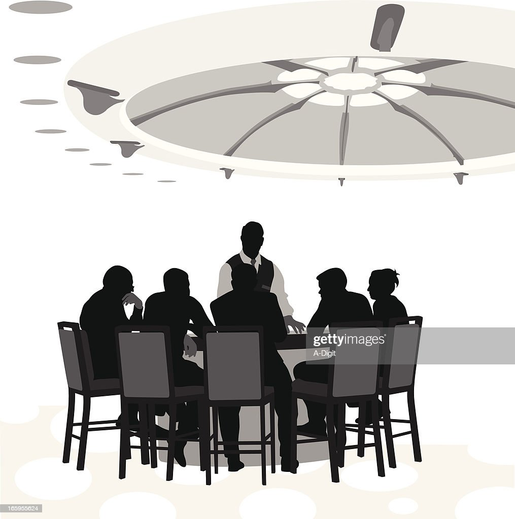 Table Stakes Vector Silhouette : stock illustration