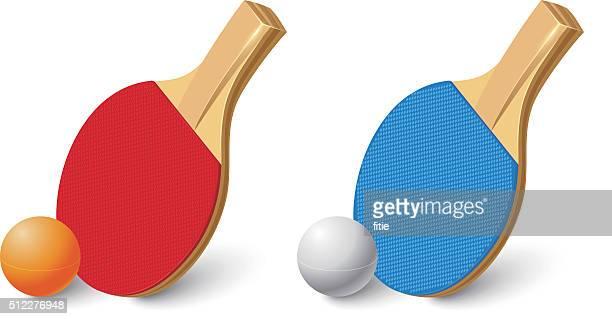 ilustraciones, imágenes clip art, dibujos animados e iconos de stock de pala de tenis de mesa - tenis de mesa