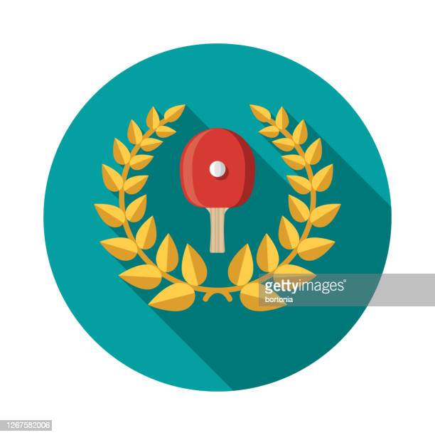 table tennis sports award icon - sports champion stock illustrations