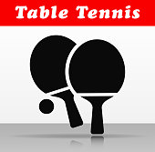 table tennis vector icon design