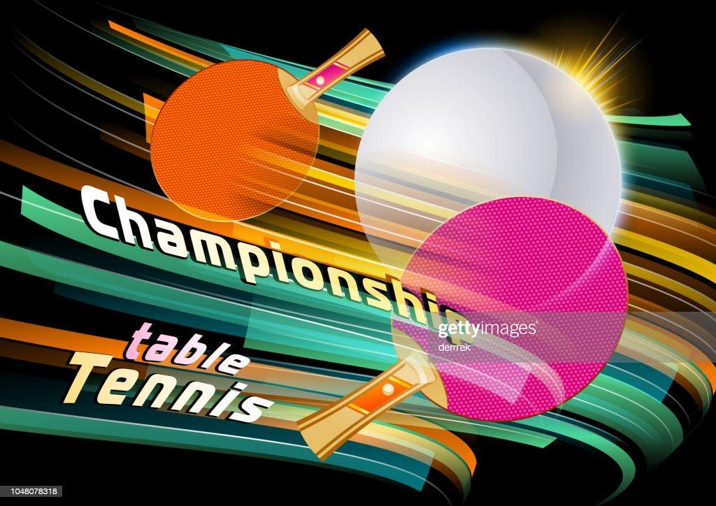Table tennis : stock illustration